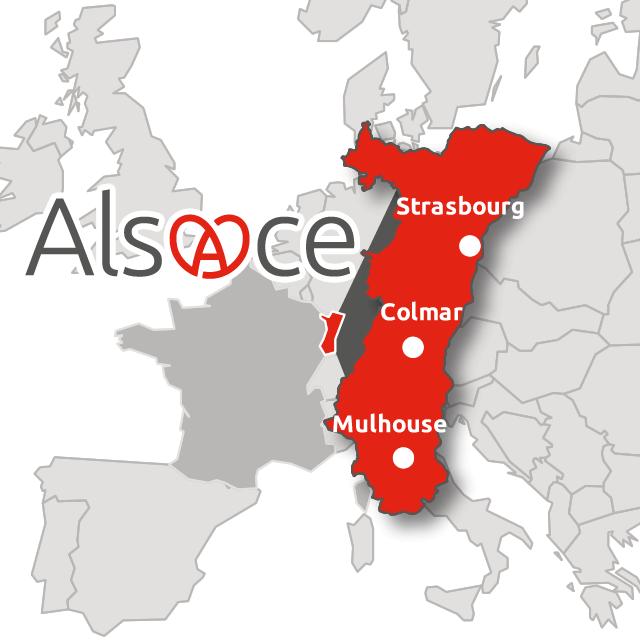 Situation géographique de l'Alsace