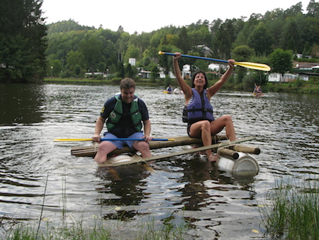 An original activity: raft-building and racing
