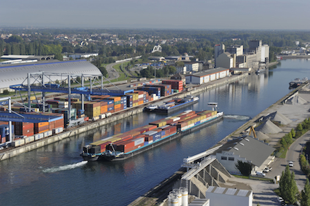 Le trajet d 39 un navire porte conteneur thinglink for Container alsace